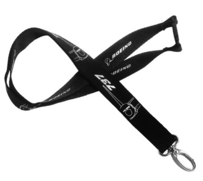 Boeing 737 Plane & Designed Lanyard & ID Holder