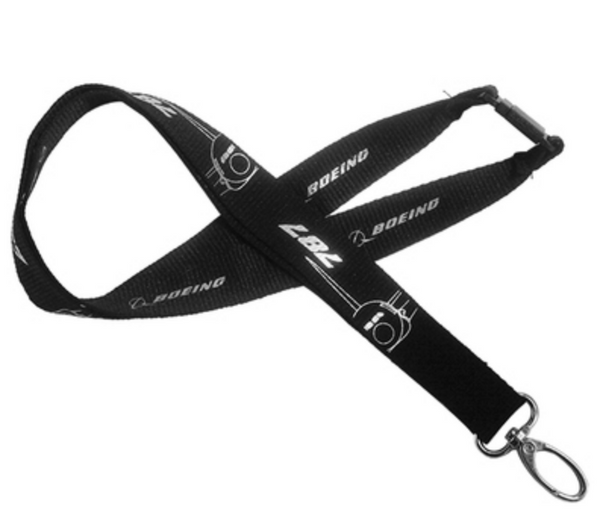 Boeing 787 Plane & Designed Lanyard & ID Holder