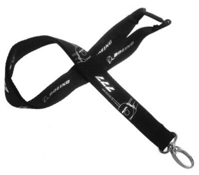 Boeing 777 Plane & Designed Lanyard & ID Holder