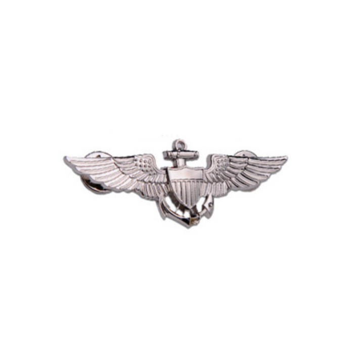 Special Edition Navy Pilot Designed (Silver) Badge