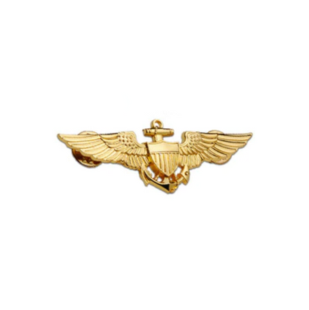 Special Edition Navy Pilot Designed (Golden Colour) Badge