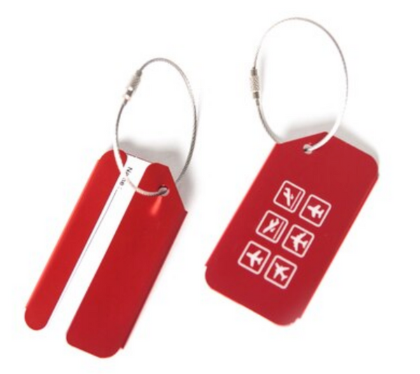 Red Aviation & Airplane Shapes Designed Luggage Tag