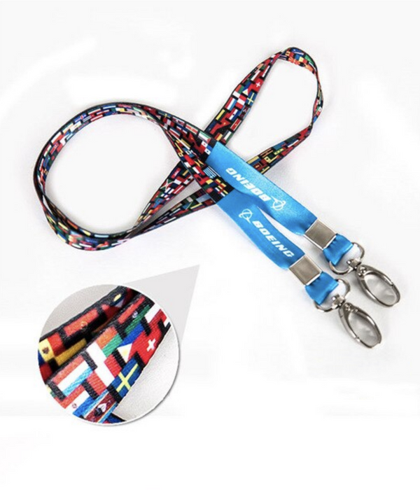 NEW! Genuine Boeing & Flags Printed Lanyard & ID Holders