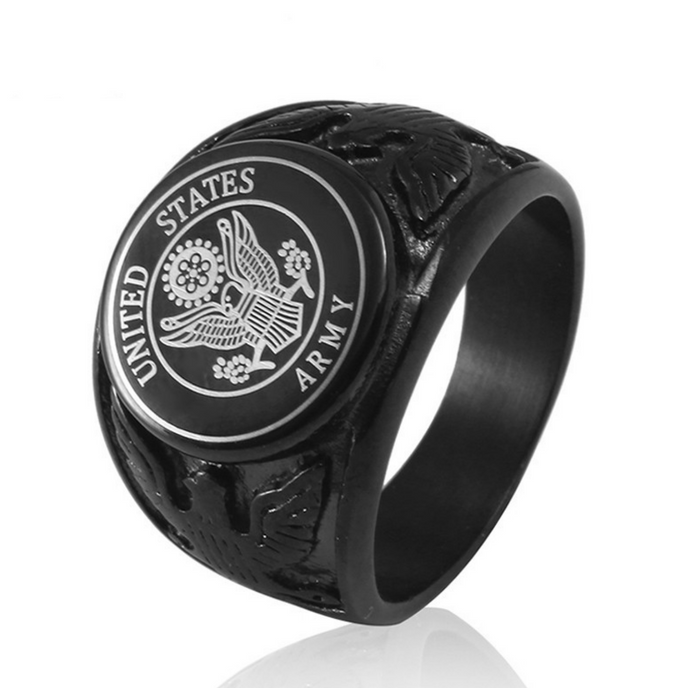 Black USA US Air Force Military Rings
