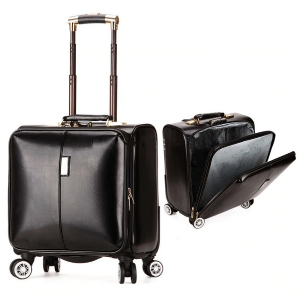 "16"" Super Quality Multi-Functional PU Leather Pilot & Travel Carry-Ons"