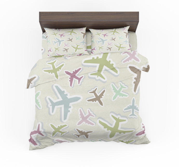 Seamless 3D Airplanes Designed Bedding Sets