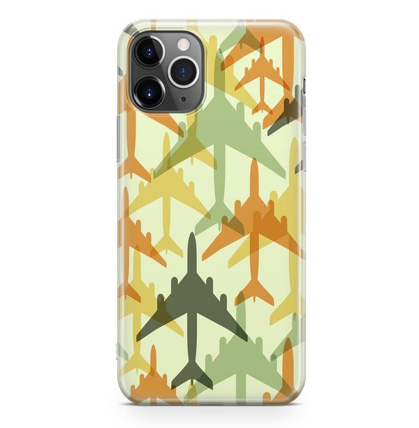 Seamless Colourful Airplanes Designed iPhone Cases