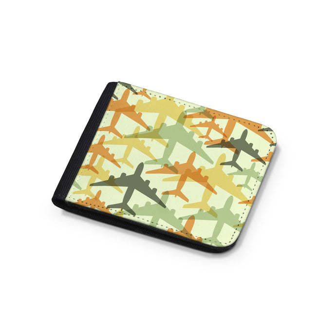 Seamless Colourful Airplanes Designed Wallets