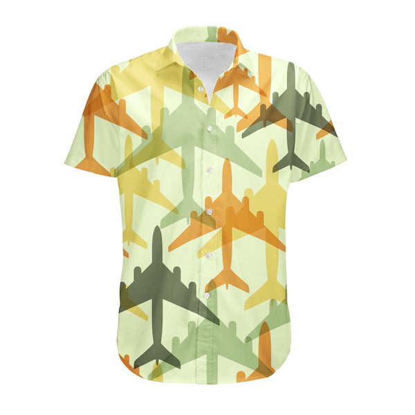 Seamless Colourful Airplanes Designed 3D Shirts