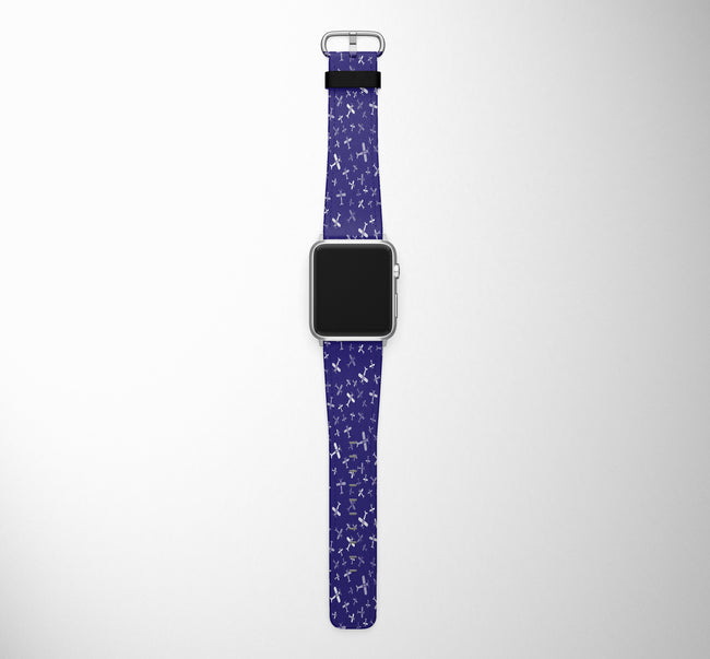 Seamless Propellers Designed Leather Apple Watch Straps