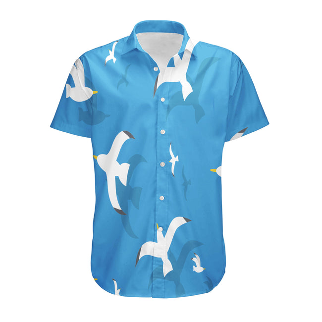 Seamless Seagulls Designed 3D Shirts