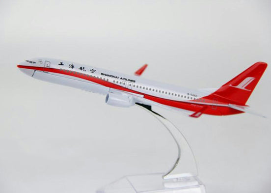 Shangai Airlines Boeing 737 Airplane Model (16CM)