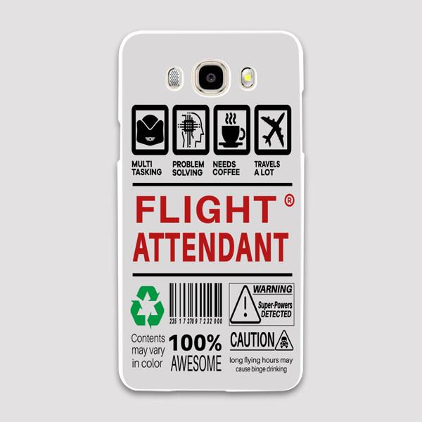 Flight Attendant Label Designed Samsung C & J Cases