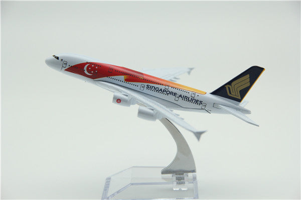 Singapore Airlines Airbus A380 (50th Year Livery) Airplane Model (16CM)