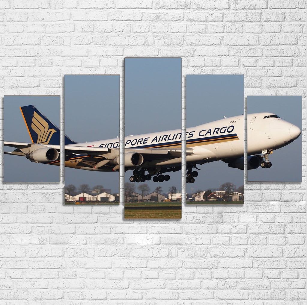 Singapore Airlines Cargo Boeing 747 Printed Multiple Canvas Poster