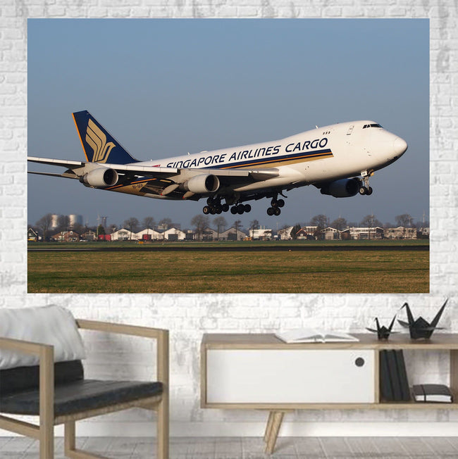 Singapore Airlines Cargo Boeing 747 Printed Canvas Posters (1 Piece) Aviation Shop