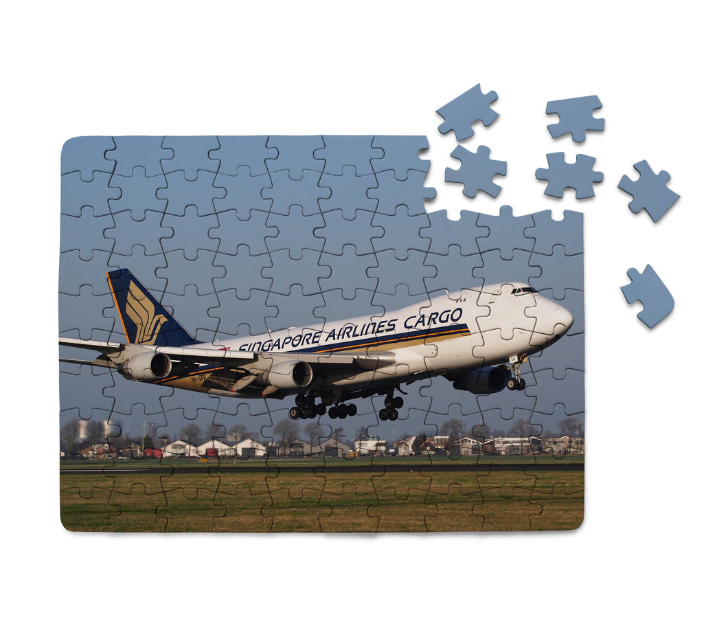 Singapore Airlines Cargo Boeing 747 Printed Puzzles Aviation Shop