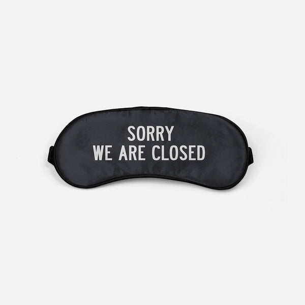 Sorry We Are Closed Sleep Masks Aviation Shop Red Sleep Mask