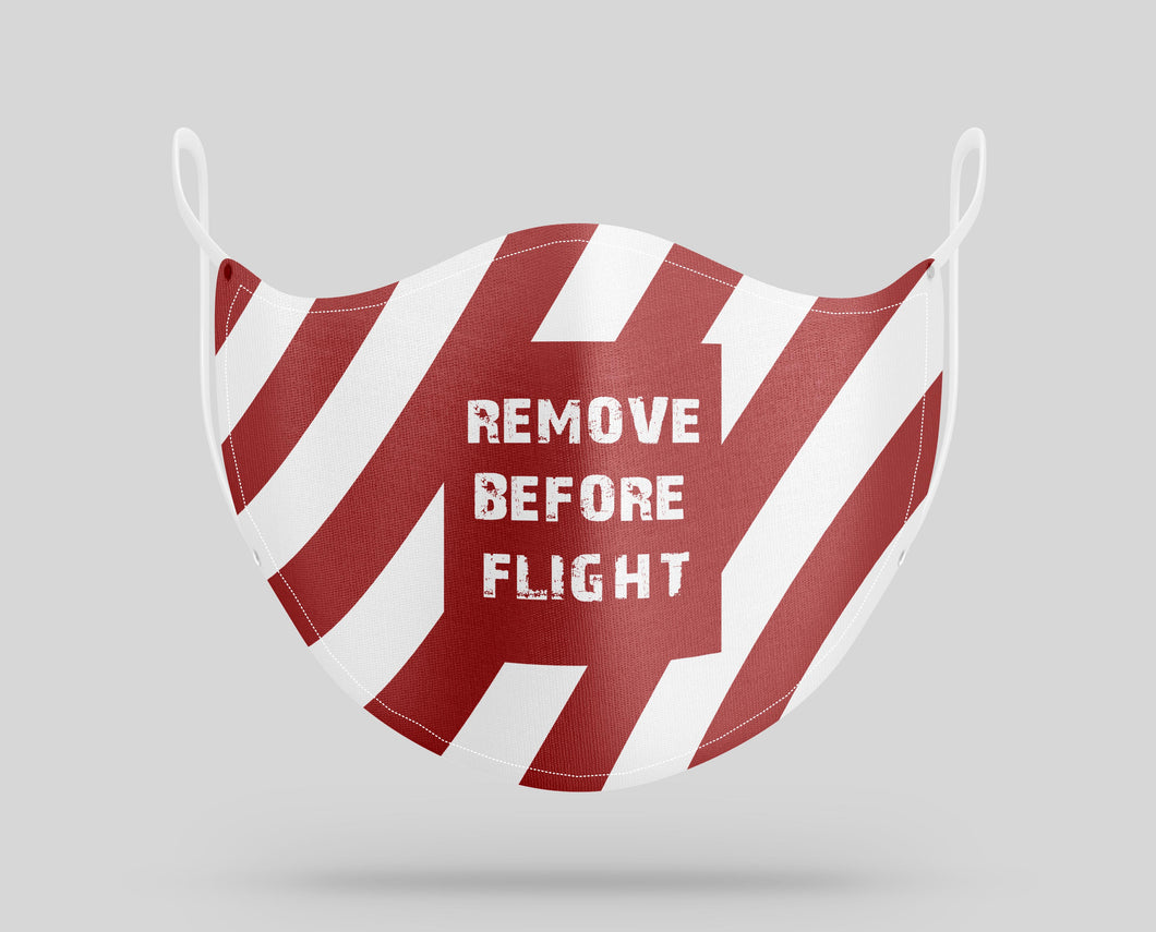 Special Edition Remove Before Flight Designed Face Masks