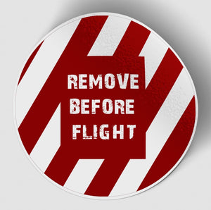 Special Edition Remove Before Flight (Circle) Designed Stickers