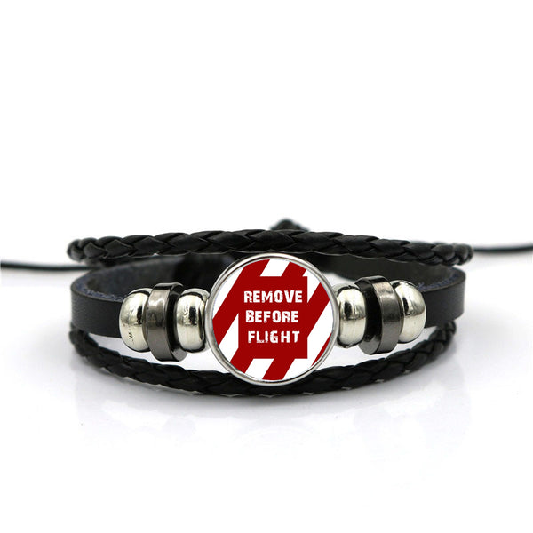 Special Edition Remove Before Flight Designed Leather Bracelets
