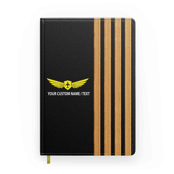 Customizable Name & Special Pilot Epaulettes Designed Notebooks