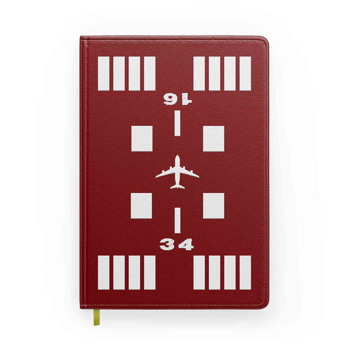 Special Runway (Red) Designed Notebooks
