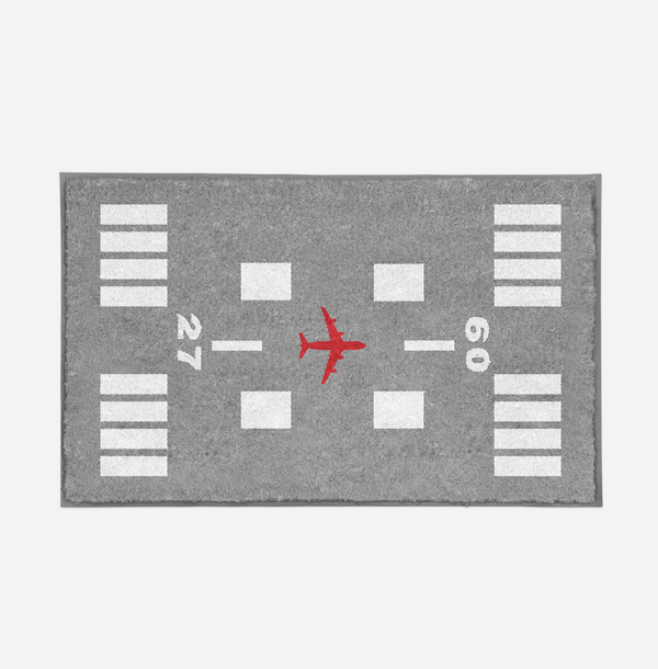 Special Runway (Gray) Designed Door Mats Aviation Shop