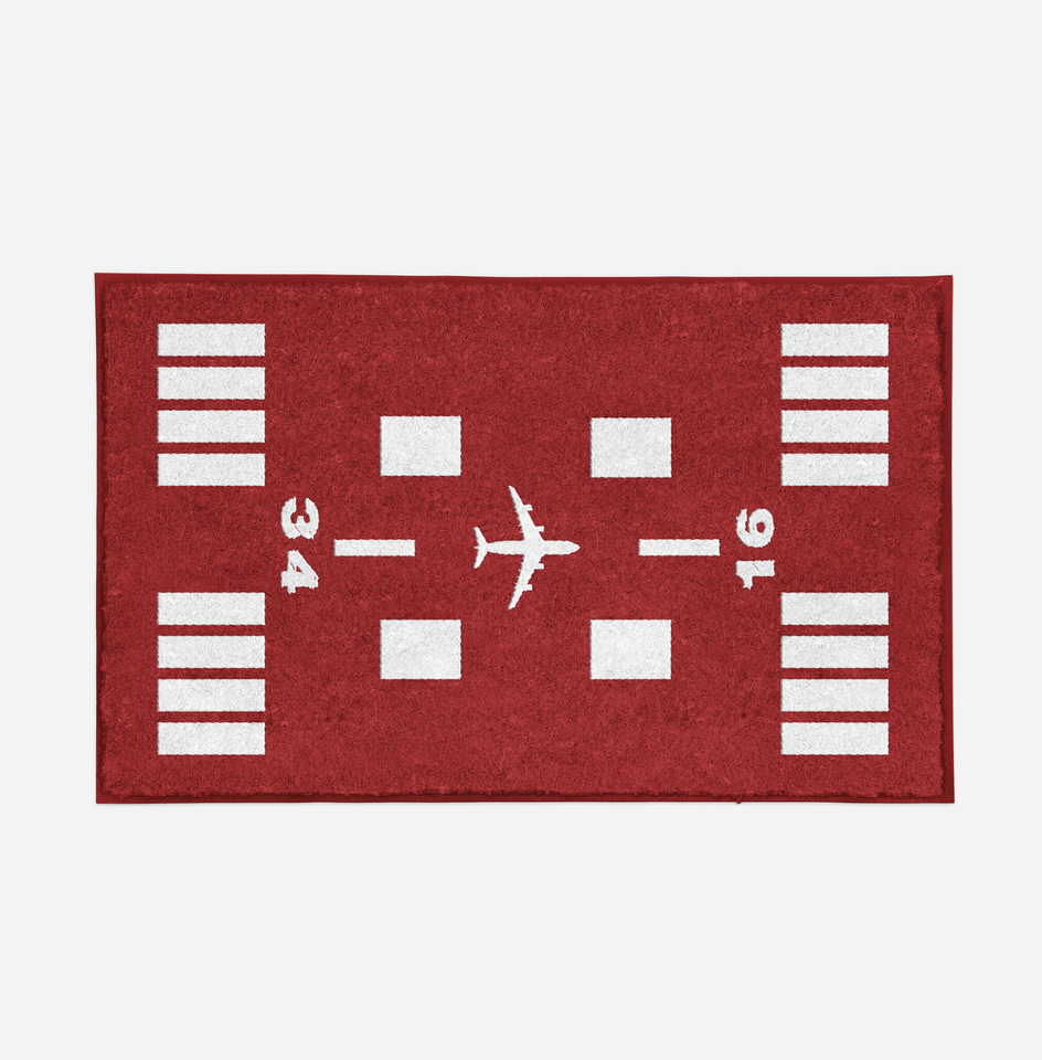 Special Runway (Red) Designed Door Mats Aviation Shop