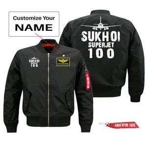 Sukhoi Superjet 100 Silhouette & Designed Pilot Jackets (Customizable)