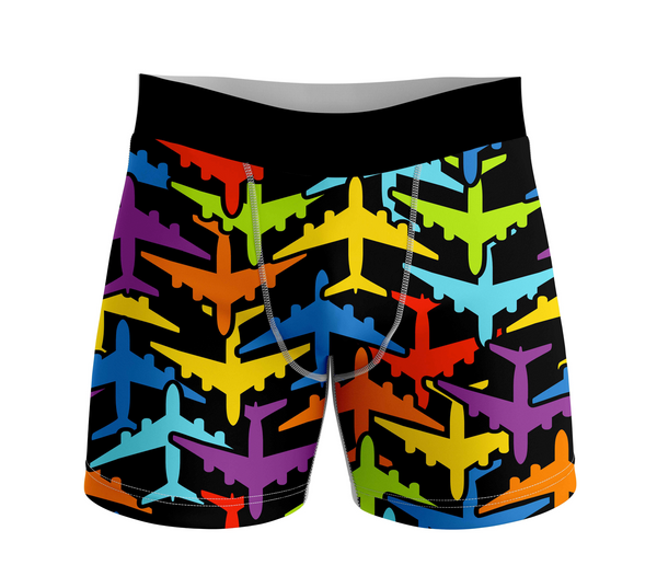 Super Colourful Airplanes Designed Men Boxers