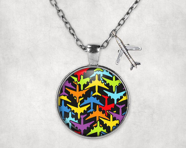 Super Colourful Airplanes Designed Necklaces