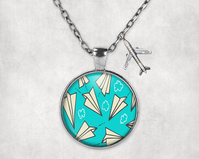 Super Cool Paper Airplanes Designed Necklaces
