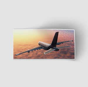 Super Cruising Airbus A380 over Clouds Designed Stickers