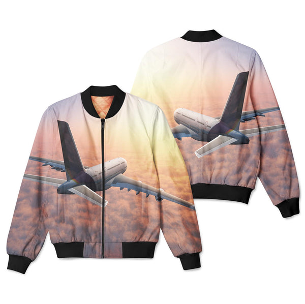 Super Cruising Airbus A380 over Clouds Designed 3D Pilot Bomber Jackets