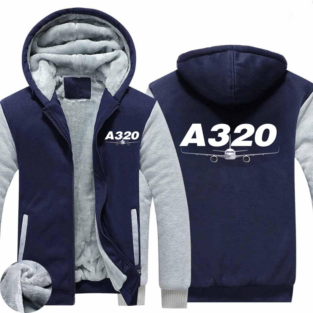 Super Airbus A320 Designed Zipped Sweatshirts