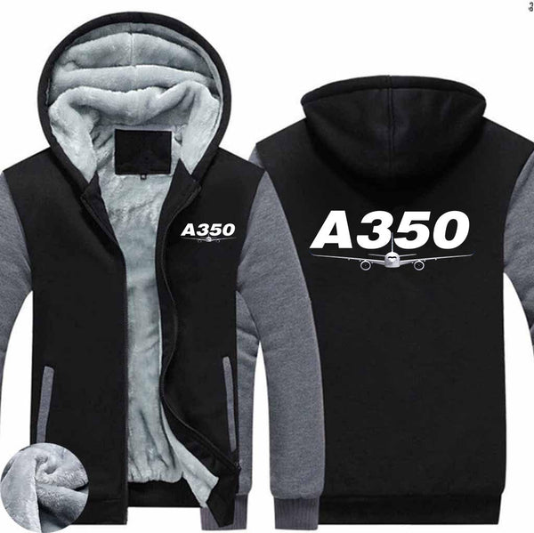 Super Airbus A350 Designed Zipped Sweatshirts