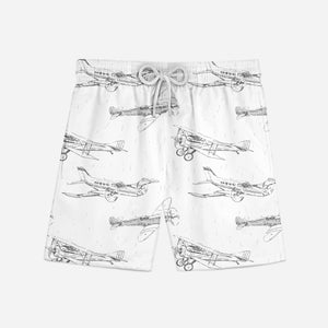 Super Aircrafts Designed Swim Trunks