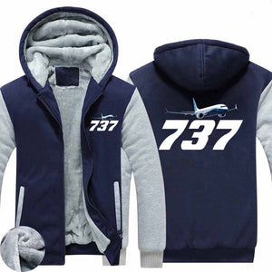 Super Boeing 737-800 Designed Zipped Sweatshirts