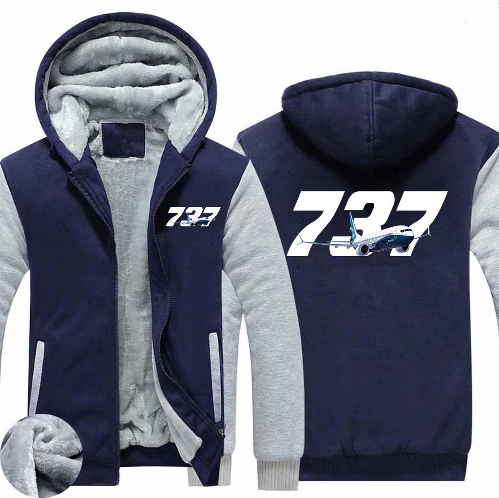 Super Boeing 737 Designed Zipped Sweatshirts