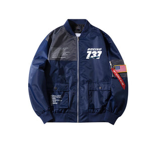 Super Boeing 737+Text Designed Special Jackets (Customizable FLAG)