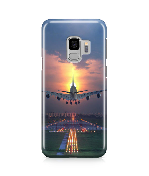Super Boeing 747 Landing During Sunset Printed Samsung J Cases