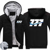 Super Boeing 777 Designed Zipped Sweatshirts