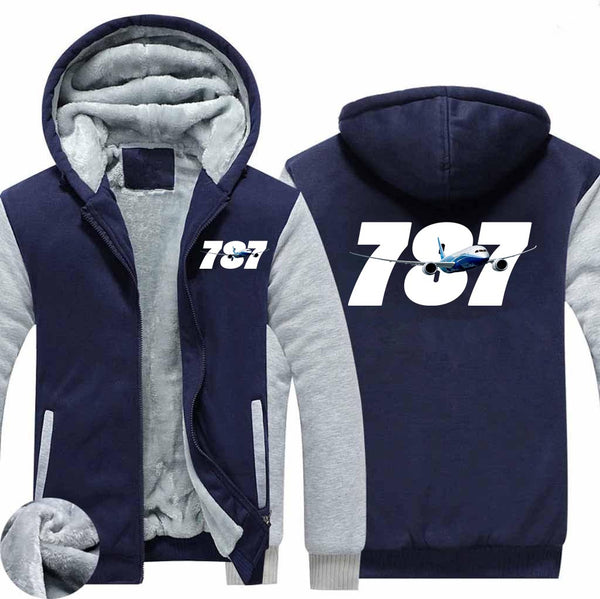 Super Boeing 787 Designed Zipped Sweatshirts