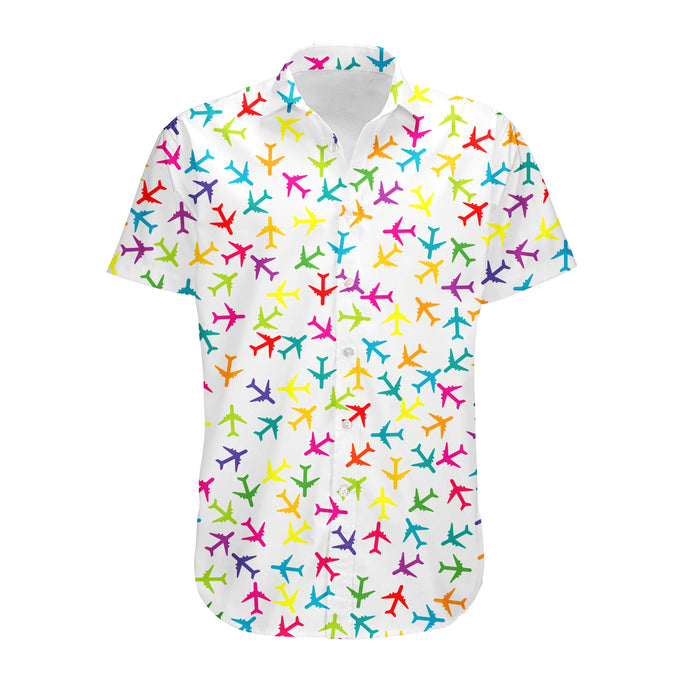 Super Colourful Airplanes Designed 3D Shirts
