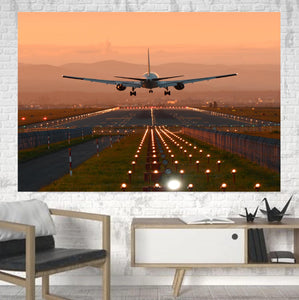 Super Cool Landing During Sunset Printed Canvas Posters (1 Piece)
