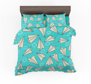 Super Cool Paper Airplanes Designed Bedding Sets