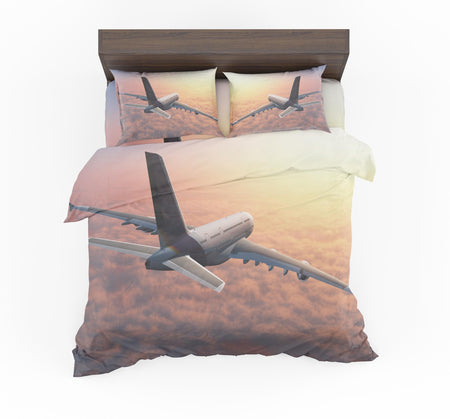 Super Cruising Airbus A380 over Clouds Designed Bedding Sets