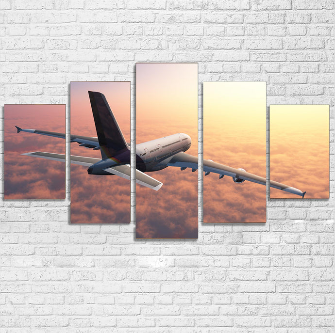 Super Cruising Airbus A380 over Clouds Multiple Canvas Poster
