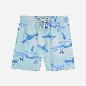Super Funny Airplanes Designed Swim Trunks